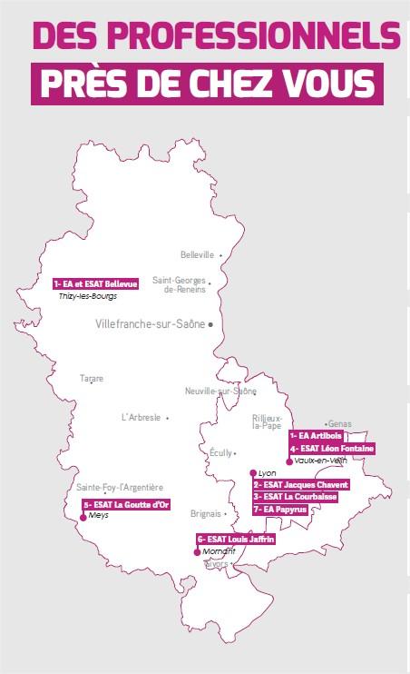 Localisation des Esat et EA